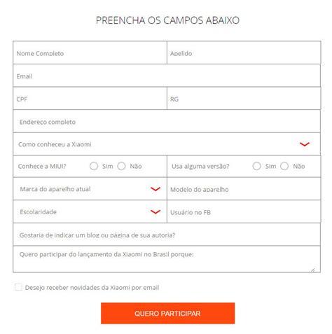 modelos de comanda para sorteio xiaomi brasil sorteia convites para evento de lan 231 amento