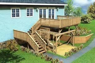 split level deck plans split level deck play area project plan 90007