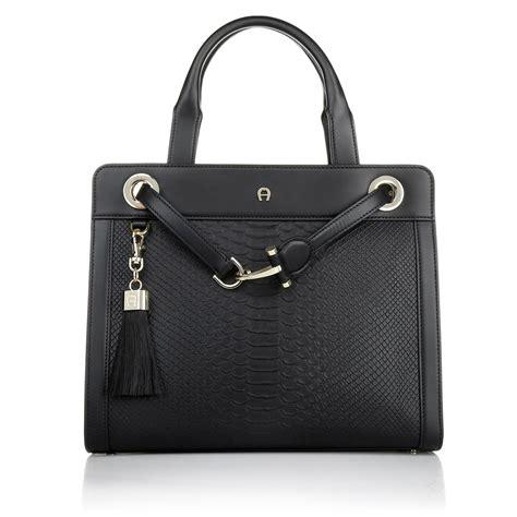 Tas Fasion Aigner Tote Bag aigner designers premium aigner cavallina handbag black black fashionette