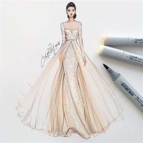 fashion illustration dress fashion illustratorboston professional inquiries info hnicholsillustration shop