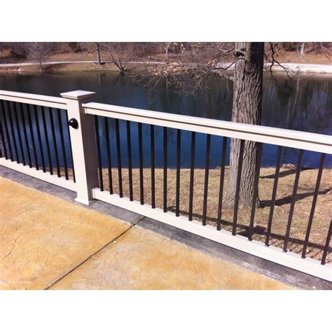 Pvc Handrail Systems 6 ii baluster handrail system vinyl handrail systems deck railing restore outdoor