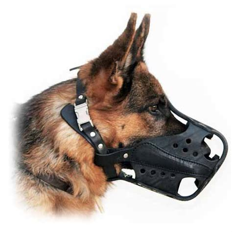 le berger won t light light and comfortable leather muzzle for attack