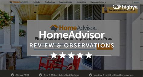 homeadvisor reviews is it a scam or legit