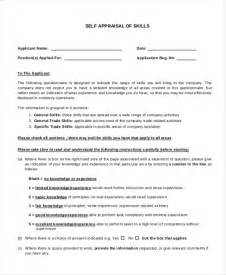 Self Appraisal Form Template by Doc 600730 Self Appraisal Form Template 9 Sle Self