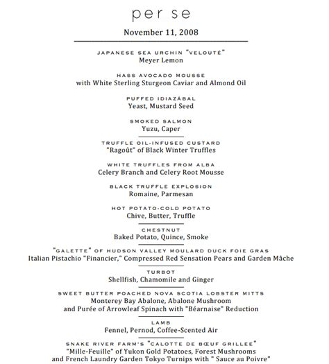 dinner menus for 12 actual menu for a 20 course 1500 dinner keep reading