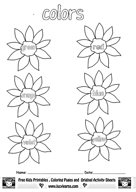 Coloring Pages Color Worksheets For Kids Lucy Learns Colour Activities For Children