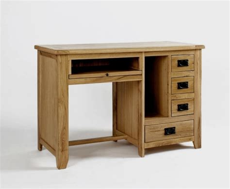 Newbury Solid Oak Furniture Small Office Pc Computer Desk Small Oak Computer Desk
