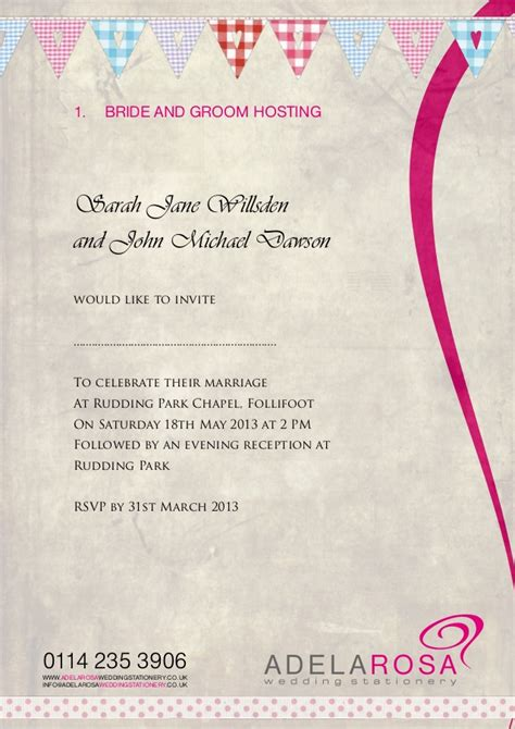 wedding invitation wording exles hosting wedding invitation wording adelarosa