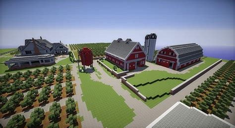 Scheune Mc by Farm House And Barns Minecraft Building Inc