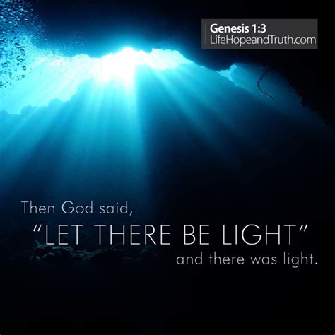 let there be light bible verse let there be light