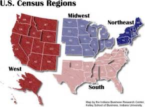 us map census regions boundary maps stats indiana