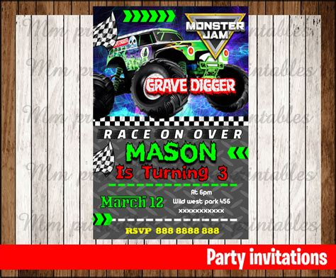 printable monster jam birthday cards 50 off sale monster jam invitation monster jam birthday