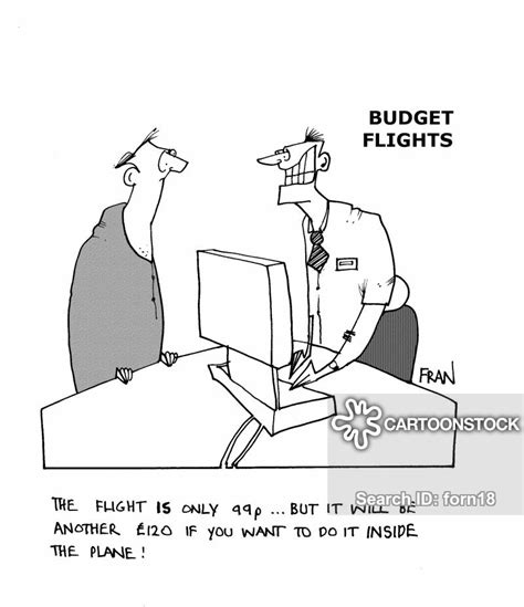 budget flight and comics pictures from cartoonstock
