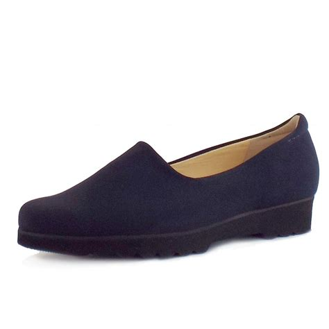 Comfortable Shoes by Kaiser Ronda Comfortable Wide Fit Shoes In Navy
