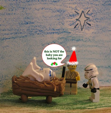 lego star wars faux nativity scene christmas card  ta flickr
