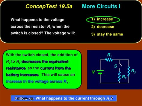 what happens to current through a resistor what happens to current through a resistor 28 images ppa6 concep tests ch 19 current