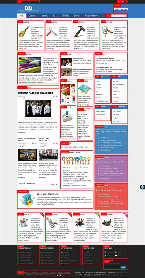 Yt Framework Web Platform Joomla Template For Joomla 1 5 And Joomla 2 5 Website Framework Template