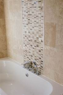 feature tiles bathroom ideas travertine wall tiles with natural stone mosaic feature