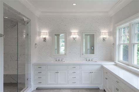 Nickel Sconce Hampton Style Bathroom
