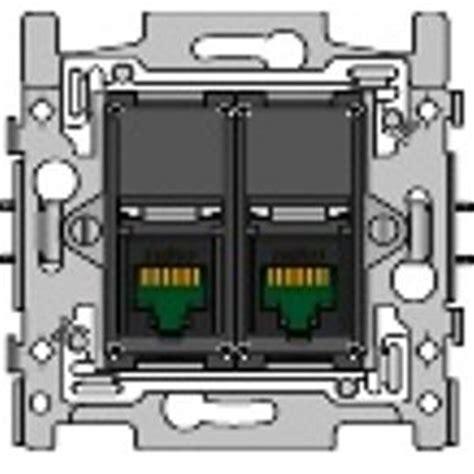 Adaptor Tv Niko sokkel data tweevoudig rj45 utp cat5e 170 65152