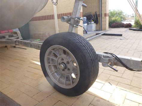 boat trailer hitch wheel diy rolling trailer spare and beach launch wheel fishing
