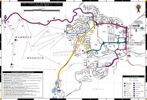 california map mammoth lakes map of mammoth lakes california