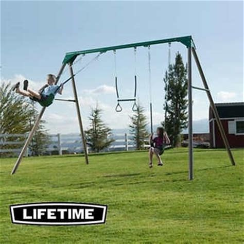 diy metal swing set lifetime 174 10 ft metal swing set do it yourself