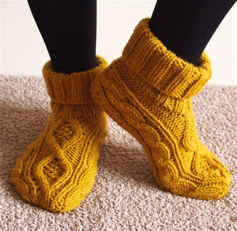 knitting pattern slipper socks slipper socks and boots knitting patterns in the loop