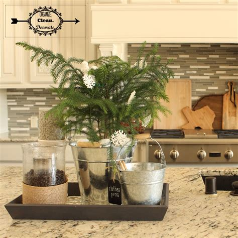 decorate kitchen island kitchen island tray organize clean decorate