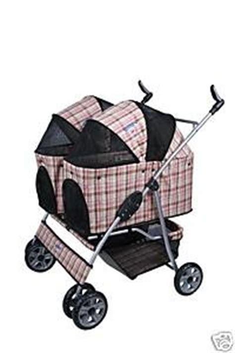 Sewa Stroller Pockit Pink Lbs heavy duty side by side pet stroller pink plaid pet carrier strollers