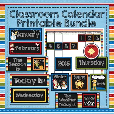 classroom calendar template classroom calendar printable bundle