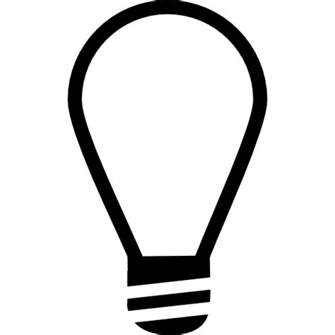 Light Bulb Outline Png by L Light Bulb Outline Free Tools And Utensils Icons
