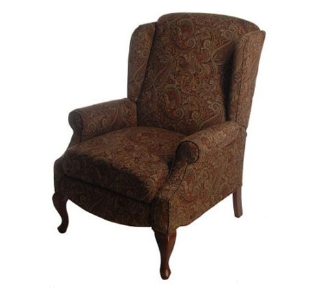queen ann recliner franklin queen anne style fabric recliner qvc com