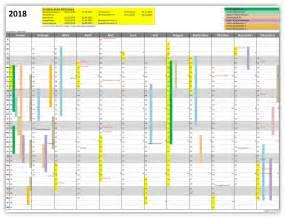 Jahreskalender 2018 Excel Amv Jahreskalender 2018 Alle Meine Vorlagen De