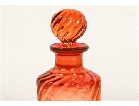 Perfume bottle crystal Baccarat France toilet model bamboo