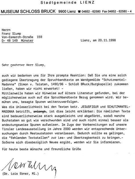 Deutsche Brief Beispiel Vorwort