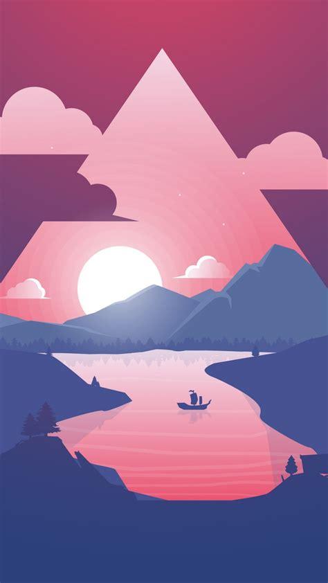 wallpaper sunset illustration hd  creative graphics