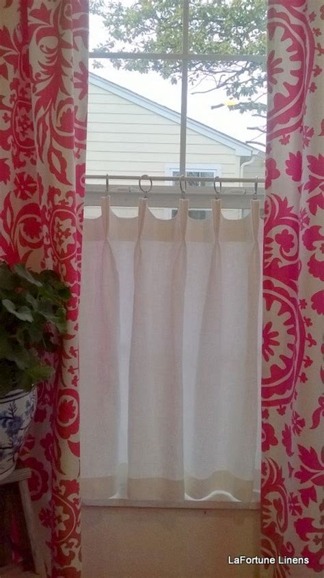 hanging cafe curtains beautiful linen caf 233 curtains for windows homesfeed