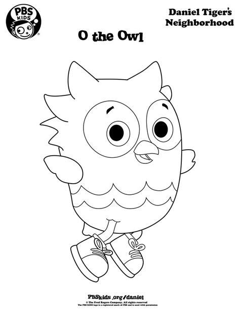 O The Owl Coloring Page o the owl coloring page danieltiger wqed pbskids