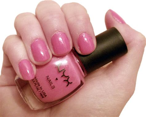 Nyx Nail nyx nails mango cafe nail swatch review nyx np49