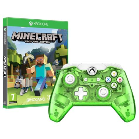 Lego Minecarft Xbox One Edition Steve M08 rock green wired xbox one controller minecraft