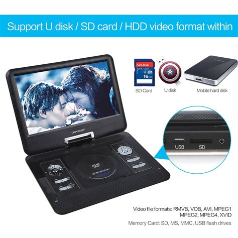 dvd player jpeg format amazon com dbpower 13 3 quot portable dvd player 2 hours