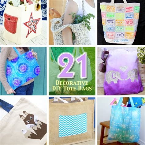 21 ways to make and decorate totebags pretty handy