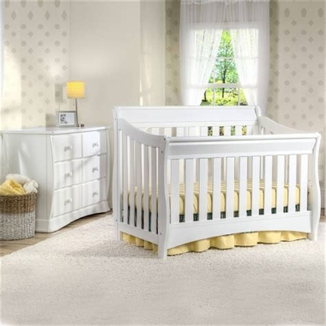 Delta Nursery Furniture Sets Delta Bentley 2 Nursery Set Convertible Crib And 6 Drawer Dresser In White Free Shipping