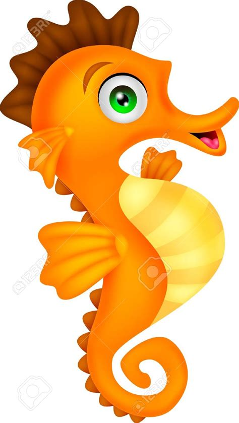 free vector clipart vector clipart seahorse pencil and in color vector