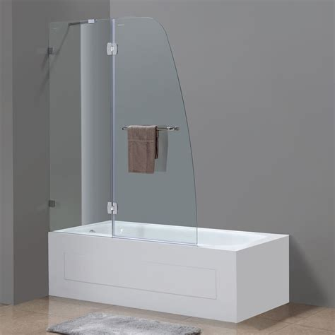 Frameless Pivot Bathtub Door soleil completely frameless hinge tub door platinum bath