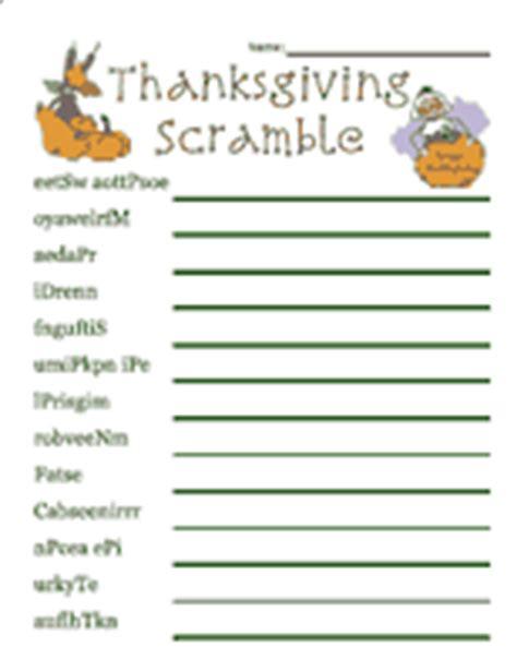 printable thanksgiving word games adults thanksgiving word scramble