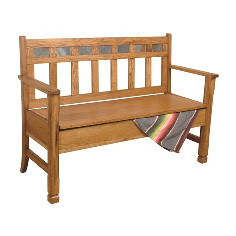 oak storage benches shop sunny designs sedona traditional rustic oak storage