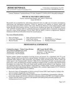 Federal Sle Resume by Federal Style Resume Sle Source
