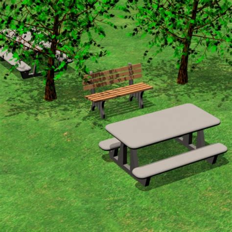 park tables and benches picnic table park bench 3ds
